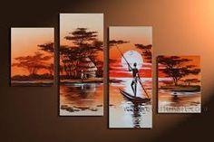 Resultado de imagem para pinturas a oleo africanas