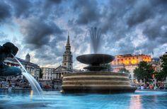 Trafalgar Square, London - more photos + tips on the blog: http://www.ytravelblog.com/london-travel-tips/