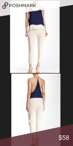 """Amanda & Chelsea – Cropped Pant. Amanda & Chelsea – Cropped Pant                                   Details - Zip fly with hook-and-bar closure - Front slant pockets - Back welt pockets - Cropped leg - Size : 6 Approx Length 33""""  - Size : 8 Approx Length 33"""" Amanda & Chelsea Pants Ankle & Cropped"""