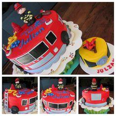 Fireman Firetruck Cake
