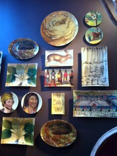 Decoupage plates and trays