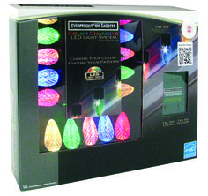the jolly christmas shop symphony of lights color changing c9 faceted led light show