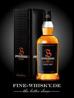 Springbank 10 yo Good Whiskey, Cigars And Whiskey, Bourbon Whiskey, Scotch Whisky, Whiskey Bottle, Hooch, Single Malt Whisky, Evil Spirits, Fun Drinks