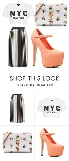 """Untitled #406"" by farrahaqs on Polyvore featuring Topshop and Yves Saint Laurent"
