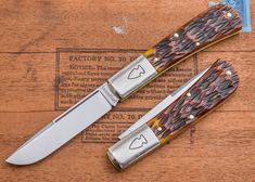 Northwoods Knives: Madison Barlow - Autumn Gold Jig Bone - KnivesShipFree $119.95