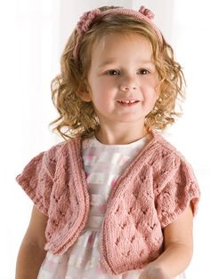 Childrens Shrug Knitting Pattern : 1000+ images about Knitted Childrens Sweaters on Pinterest Pattern lib...