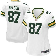 39357806f2c New Women s White Nike Limited Green Bay Packers  87 Jordy Nelson NFL  Jersey