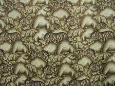 Animals (Brown) - Half Price This Week - Fabric of the Week ¦ A designer fabric for animal lovers by International Textiles for Fabricland.