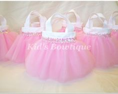 6 Sweet Baby Pink TUTU Sequins Party Favor Tutu por kidsbowtique