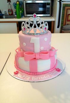 Children's Birthday Cakes - 1st Birthday princess cake