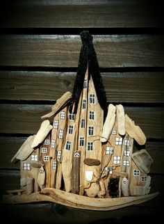 Small driftwood town/houses. Designed by EVAS