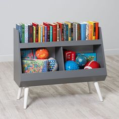 Shop Next Chapter Modern Bookcase (Grey/White).  Our Next Chapter modern bookcase features contrasting colors of grey and white and its bottom bins are perfect for storing books & toys.