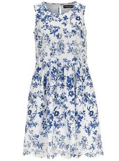 White and Blue Layer Dress - View All New In  - New In