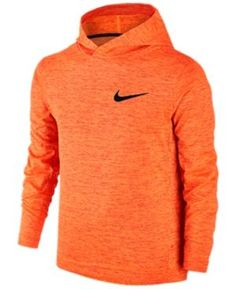 Nike Boys' Dri-fit Abstract Print Training Hoodie - Orange S
