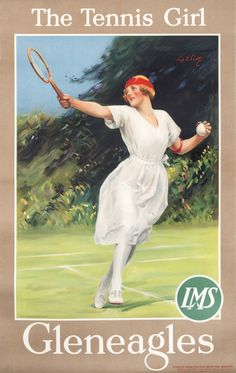 The Tennis Girl - Gleneagles - LMS by Scott, Sep E. | International Poster Gallery
