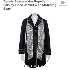 Dennis Basso Water Repellent Jacket W/ Scarf Used in great condition! QVC item A7303. Dennis Basso Jackets & Coats