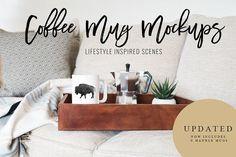 Coffee Mug Mockup Stock Photo Bundle by TwigyPosts on @creativemarket