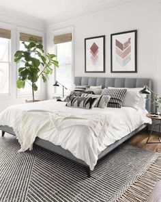 Home Interior Design Newton Charcoal/Ivory Area Rug - Magnolia Home by Joanna Gaines.Home Interior Design Newton Charcoal/Ivory Area Rug - Magnolia Home by Joanna Gaines Modern Master Bedroom, Master Bedroom Design, Home Decor Bedroom, Bedroom Rugs, Master Suite, Bedroom Ideas Grey, Grey Wall Bedroom, Condo Bedroom, Ivory Bedroom