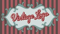 Custom vintage Logo Design retro logo shabby chic by Signtific