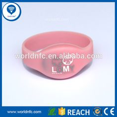 Silicone material NTAG213/NTAG216 rfid wristband for mobile equipment