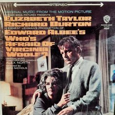 "Who's Afraid of Virginia Woolf?  12"" Vinyl Lp MINT original Soundtrack (1966 music Alex North) Liz Taylor, Richard Burton, Sandy Dennis"