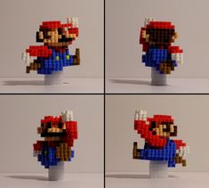 Its Mario himself from Nintendos beloved classic SUPER MARIO BROS. series! Realized in 3D as a physical bead figure. Using high quality Perler brand beads, includes an optional Warp Pipe base stand with a removable clear attachment to suspend the figure above or separately on a desktop.