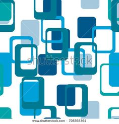 Abstract flat geometric pattern blue. Repeating pattern for printing on men's and women's clothing, paper, upholstery, fabric, textile,covers. Seamless vector illustration