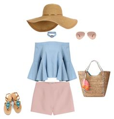 """Ladylike teeanager"" by georgi-medrea on Polyvore featuring Valentino, Lilly Pulitzer, OLIVIA MILLER and Ray-Ban"