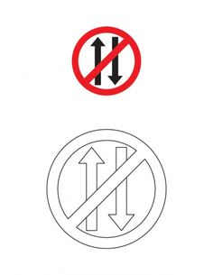 Vehicles prohibited in both direction traffic sign coloring page | Download Free Vehicles prohibited in both direction traffic sign coloring page for kids | Best Coloring Pages