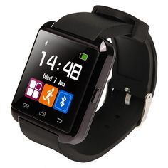 U8 Bluetooth Smart Watch WristWatch Phone with Camera Touch Screen for Android OS and IOS Smartphone Samsung Smartphone (Black). Bluetooth Version: Bluetooth V2.0, Talk Time: about 3 hours, Charging Time: about 1 hour, Music Play Time: about 6 hours, Standby Time: about 160 hours. Ambient Noise: ≤75dB, Transmitting Range: ≥10m, Range of Frequency: 2.4GHz spectrum, Language Support: English, Chinese. Material: Steel + Silicon, Bluetooth Protocol: A2DP + HFP 1.5 + HS P 1.2, Power Supply:...