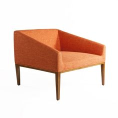 The Huxley Orange Settee on Settee, Armchair, Contemporary Furniture, Modern Contemporary, Online Furniture, Home Furniture, Burke Decor, Accent Furniture, Upholstered Chairs