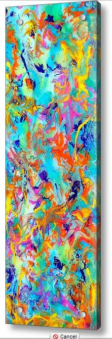 Original Contemporary Abstract Resin Art  Dancing by HalfBakedArt, $150.00