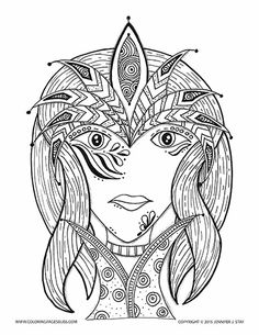 Coloring Page For Adults And Artists Of All Agesshe Is One