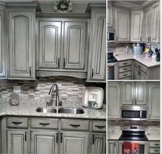 Beautiful Painting and Glazing Cabinets