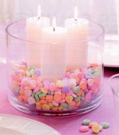 valentine's day taper candles