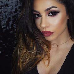 Brows @dianamaria_mua  BROWS: #BrowWiz in Dark Brown  GLOW: Riviera & So Hollywood Illuminators  LIPS: Mac Cosmetics Half Red lip liner and Verve with Myth lipsticks  #anastasiabeverlyhills