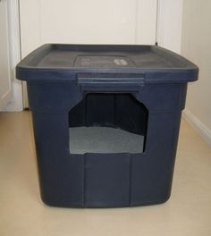 Daily DIY Pet Pattern - Make A Covered Cat Litter Box From Rubbermaid Container