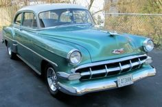 1954 Chevrolet, Bel Air 24995.00 USD 1954 Chevrolet Bel Air 210 2dr. Sedan. Very original car with only 35,000 miles. Restored as needed with a complete disassembly for a bare metal paint job. Detailed engine, trunk and original excellent interior...