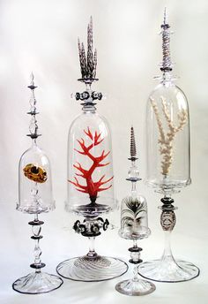 Elegant display Cabinet of Curiosities: Andy Paiko Taking note of the beauty in the simplicity of things. Or the unusual. The Bell Jar, Bell Jars, Decoration Entree, Cabinet Of Curiosities, Deco Originale, Apothecary Jars, Glass Domes, Altered Art, Glass Art