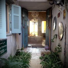 House in Batroun, Lebanon. The beach house is located in the very famous historical zone of Batroun. It is close from all activities (old souks, restaurants, nightlife). It has a very nice garden in the calm backyard and is 20 meters away from the sea!  The house was decora...