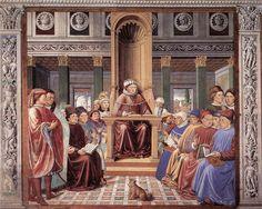 Benozzo Gozzoli - St Augustine Teaching in Rome