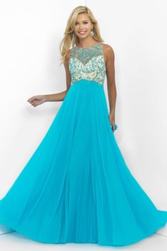 2016 Prom Dresses A Line Scoop Tulle Zipper Up Back With Rhinestone Bicolor US$ 169.99 NPSP7CQ9ZZA - NewPromShop.com