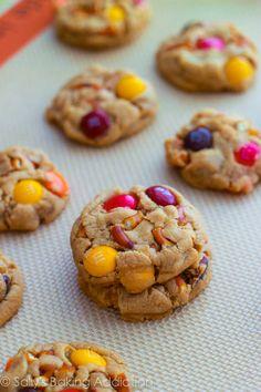 Bite Size Peanut Butter Pretzel MM Cookies!