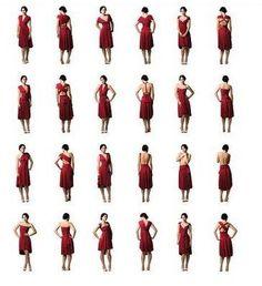 "The Convertible ""Infinity"" Dress pattern Infinity Dress Tutorial, Infinity Dress Styles, Convertible Clothing, Convertible Dress, Diy Clothing, Sewing Clothes, Dress Sewing, Diy Dress, Dress Skirt"
