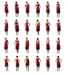 Multi-way Dress for Bridesmaids  Real Girl Runway: One Dress, Endless Options