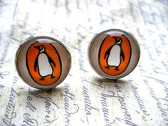 Penguin Books Earrings Made With Vintage Paperback Covers