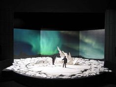 White fantastic: the North Pole set for the new production of Fram © Camero