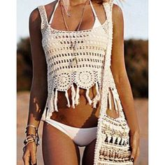 Wholesale Sexy Sleeveless Cut Out Fringed Women's Tank Top Only $7.02 Drop Shipping | TrendsGal.com