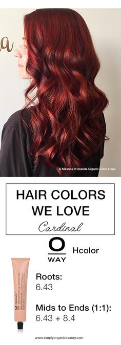 Cardinal Red Hair Color with Oway's Professional Ammonia-Free Hcolor Line! #Oway #Hcolor #HolisticHairTribe