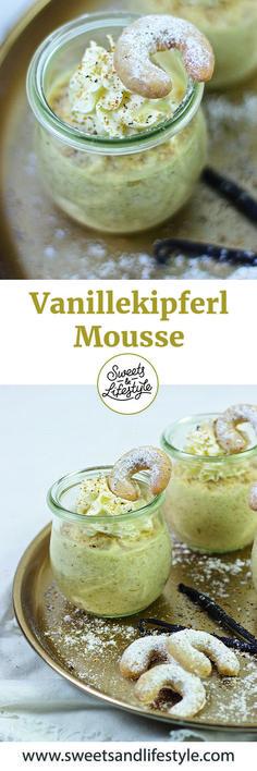 Vanillekipferl Mousse als Weihnachtsdessert // Sweets & Lifestyle® #christmas #dessert #vanillekipferl #weihnachten #vanillacresecentcookies #vanillekipferlmousse #rezept #sweetsandlifestyle